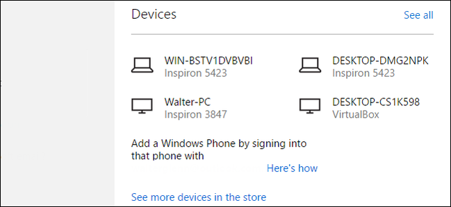 Microsoft Account - Devices