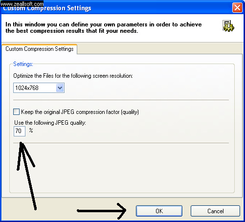 File Minimizer - Custom Compression Setting