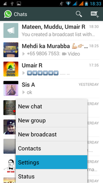 setings in whatsapp