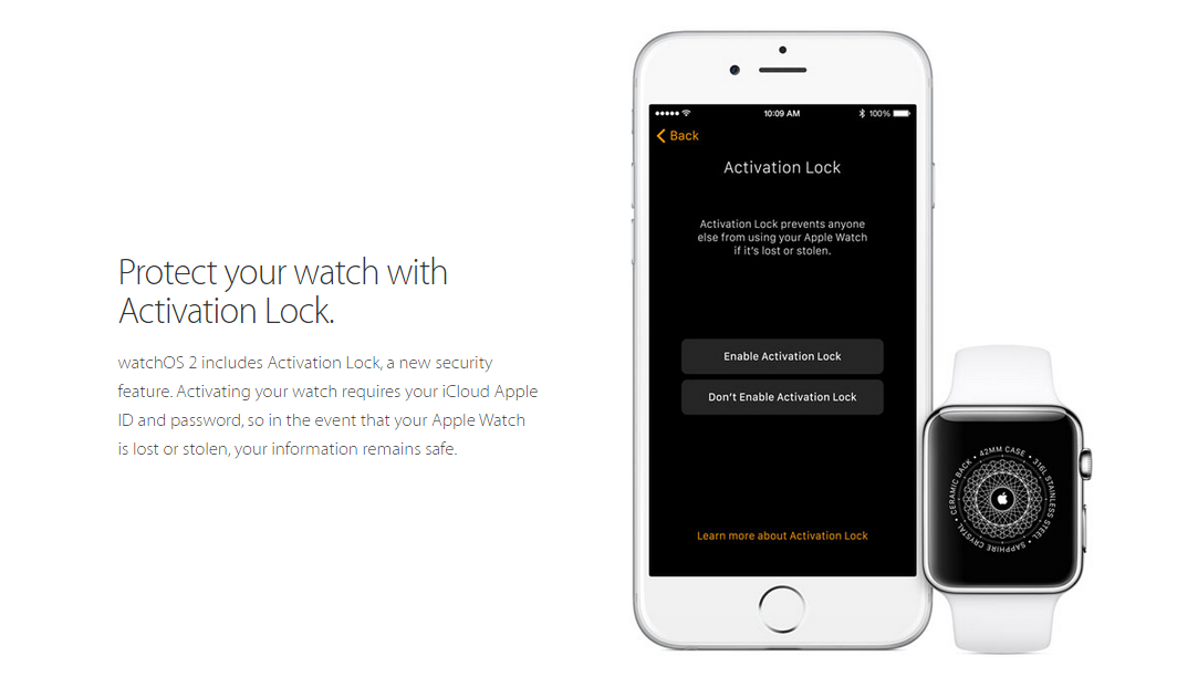 Watch protection with Activation Lock